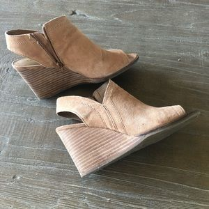 Lucky Brand sandal wedge  booties